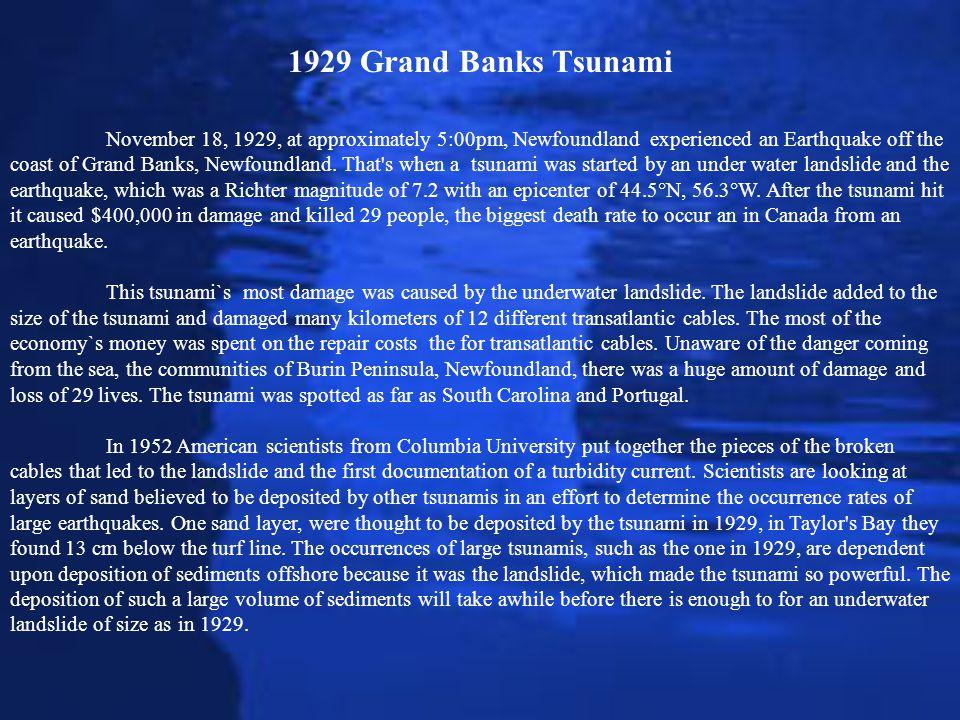 1929 Grand Banks Tsunami