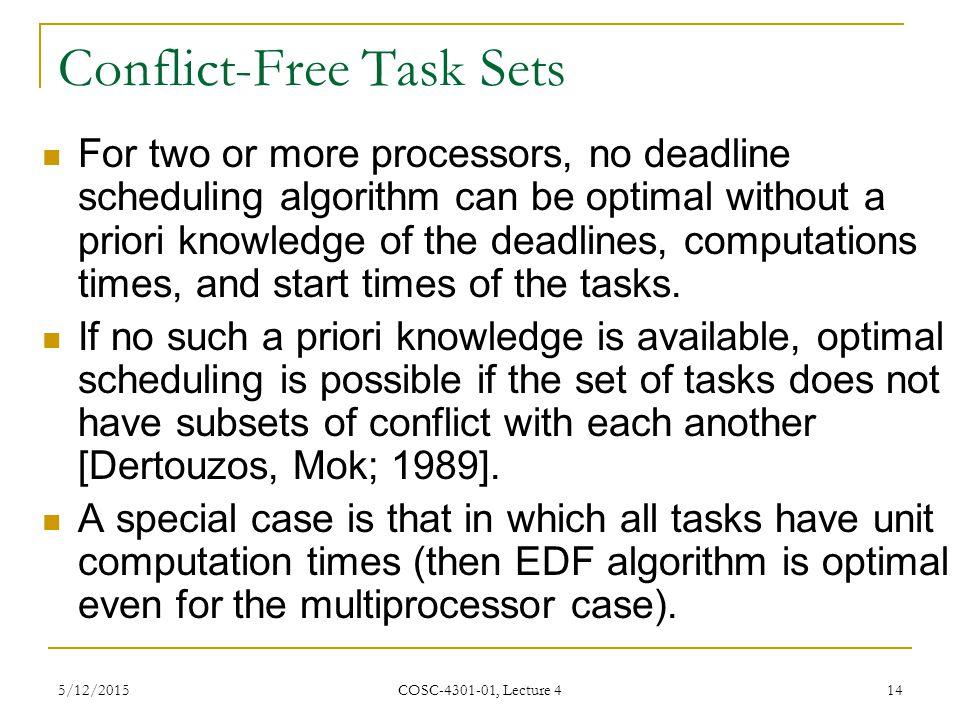Conflict-Free Task Sets
