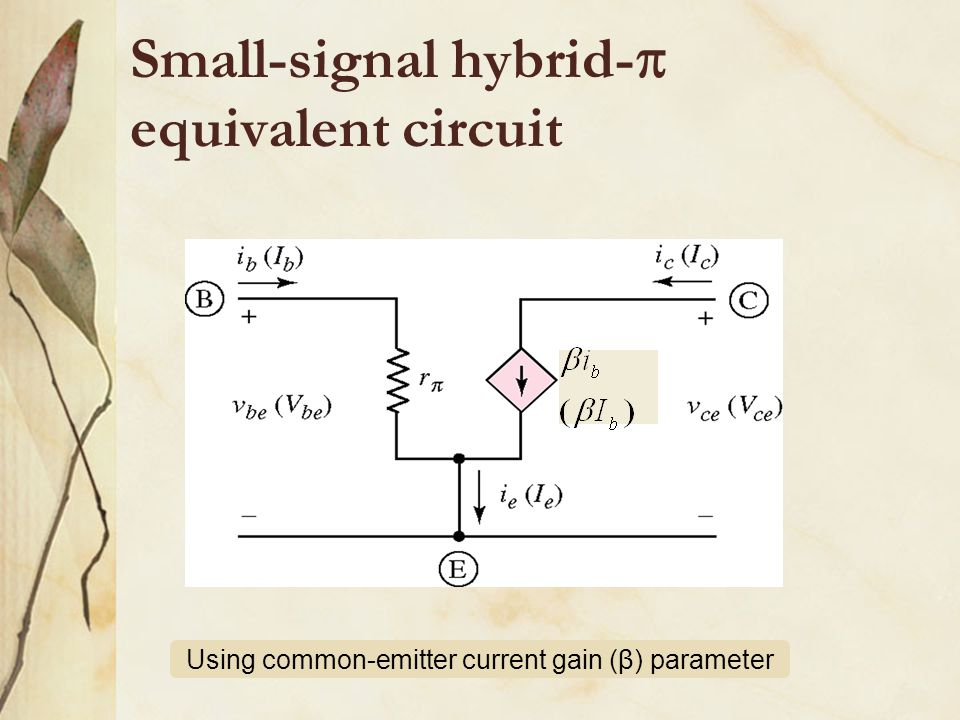Small-signal hybrid- equivalent circuit