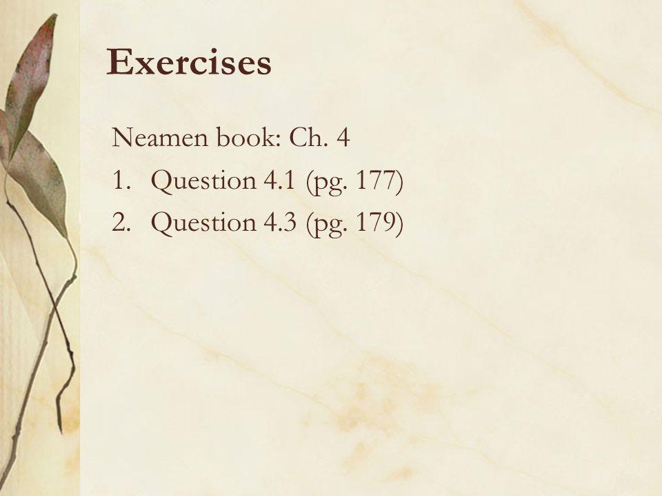 Exercises Neamen book: Ch. 4 Question 4.1 (pg. 177)