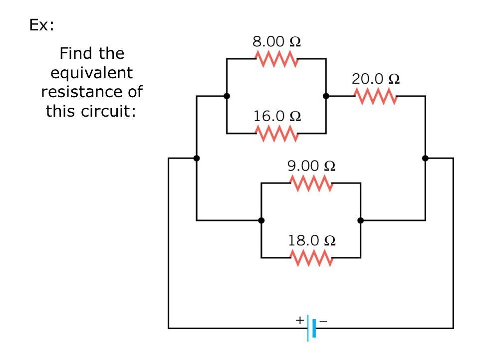 Find the equivalent resistance of this circuit: