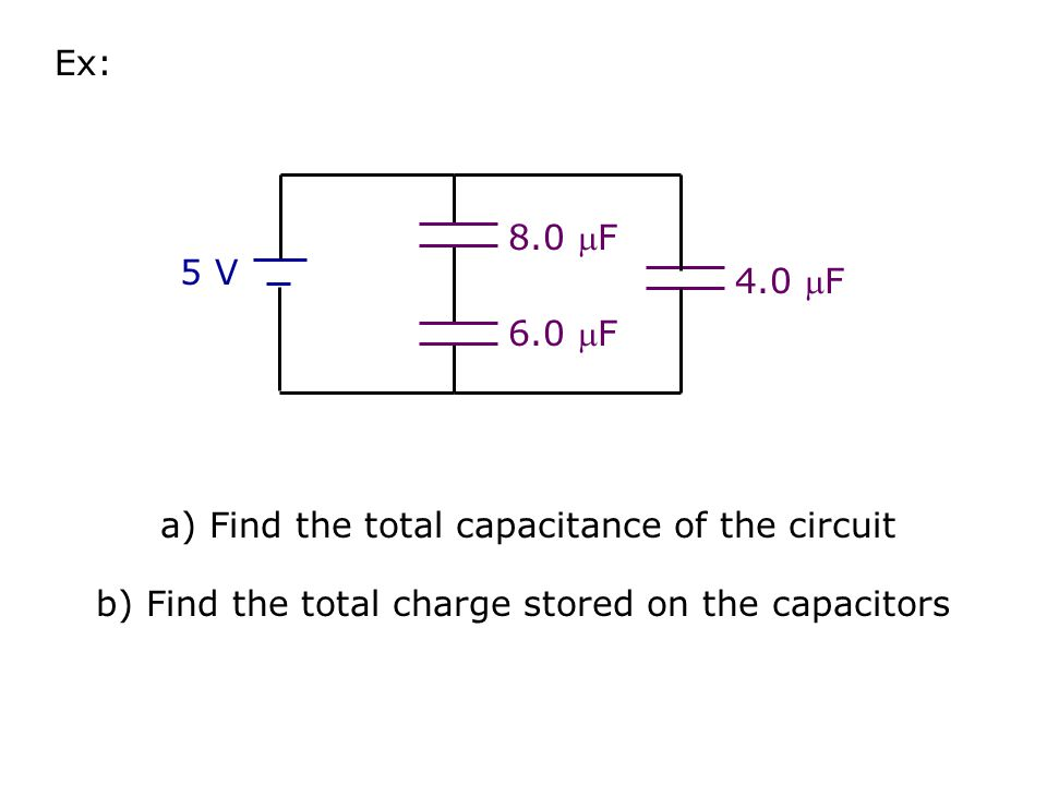 a) Find the total capacitance of the circuit