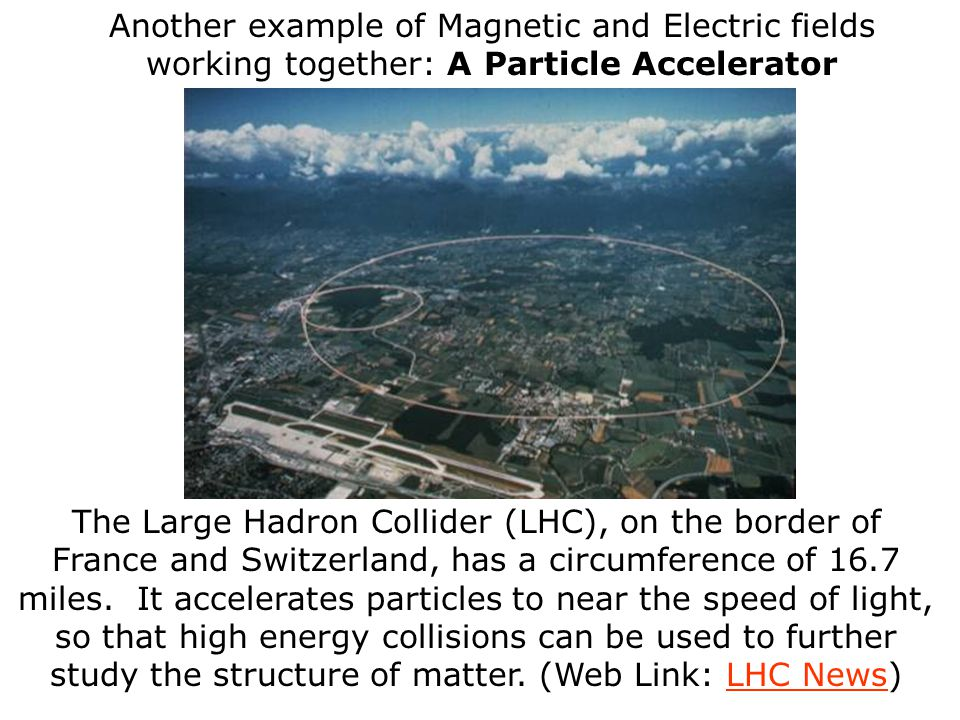 Another example of Magnetic and Electric fields working together: A Particle Accelerator