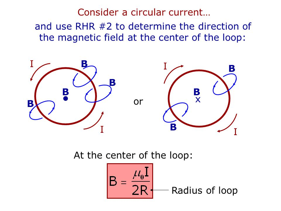 Consider a circular current…