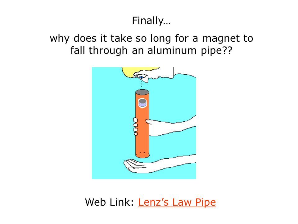 Web Link: Lenz's Law Pipe
