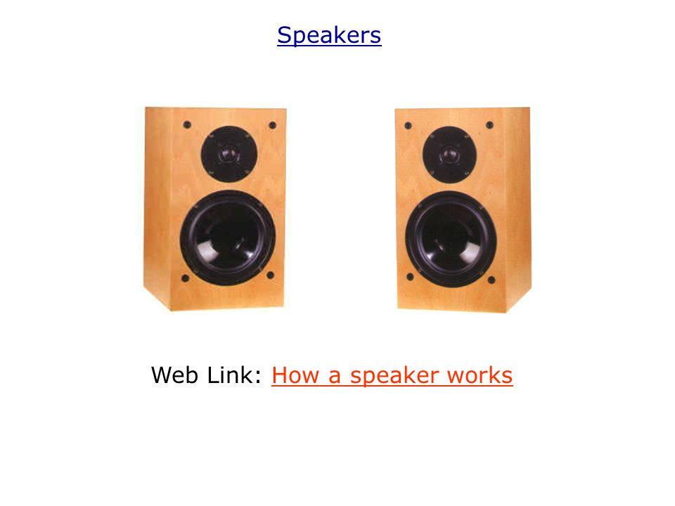 Web Link: How a speaker works