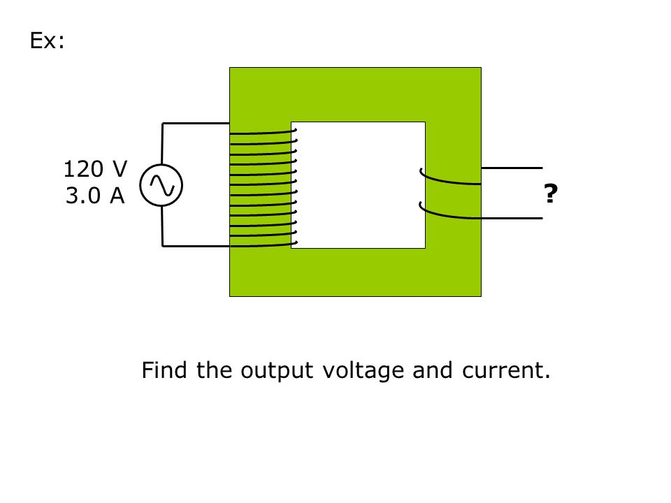Find the output voltage and current.