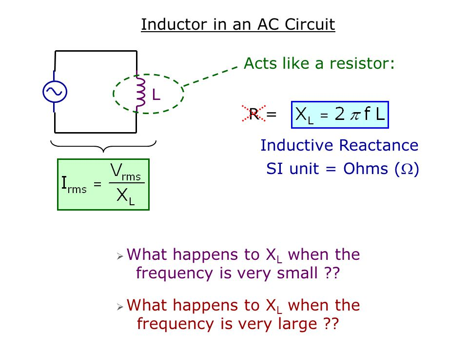 Inductor in an AC Circuit