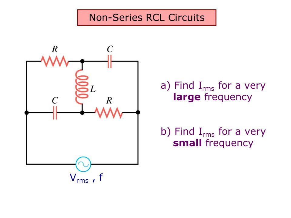 Non-Series RCL Circuits