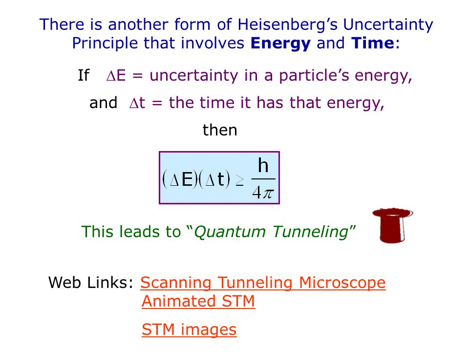 This leads to Quantum Tunneling