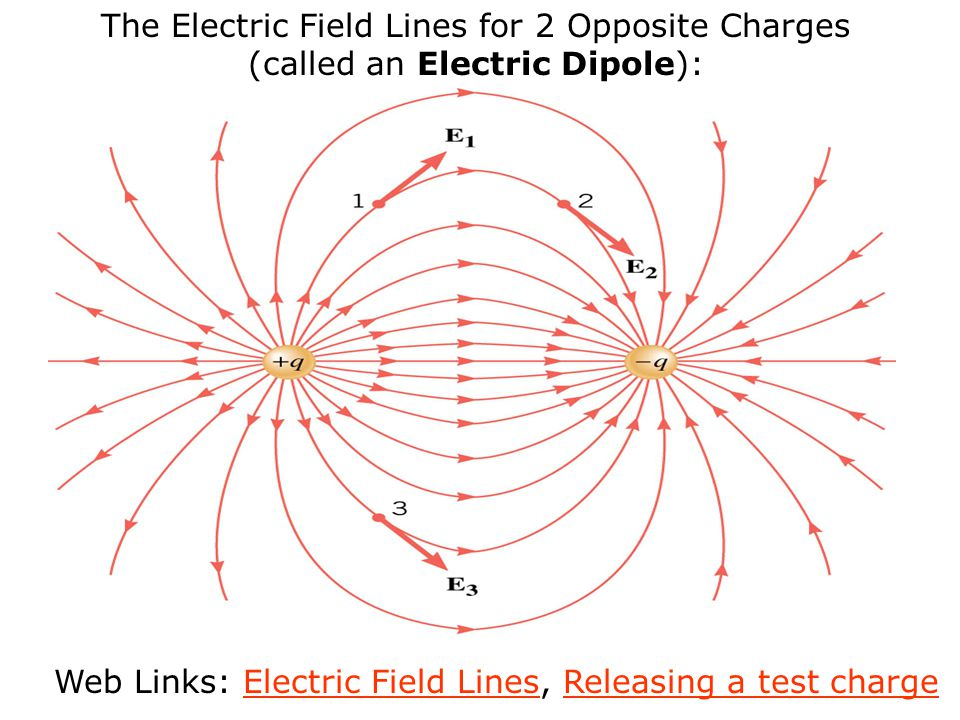 Web Links: Electric Field Lines, Releasing a test charge