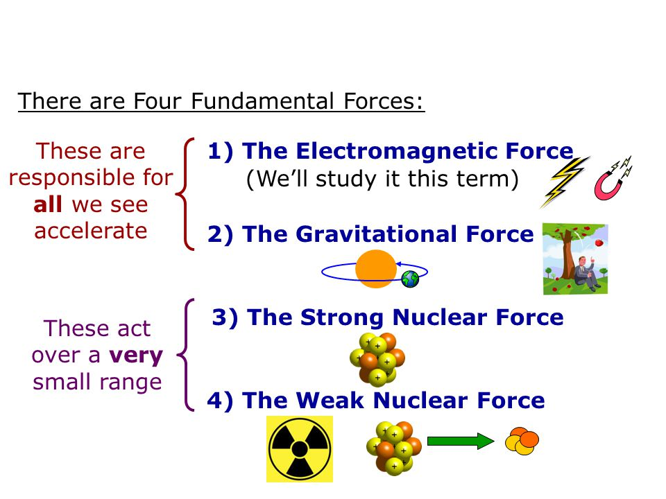 There are Four Fundamental Forces: