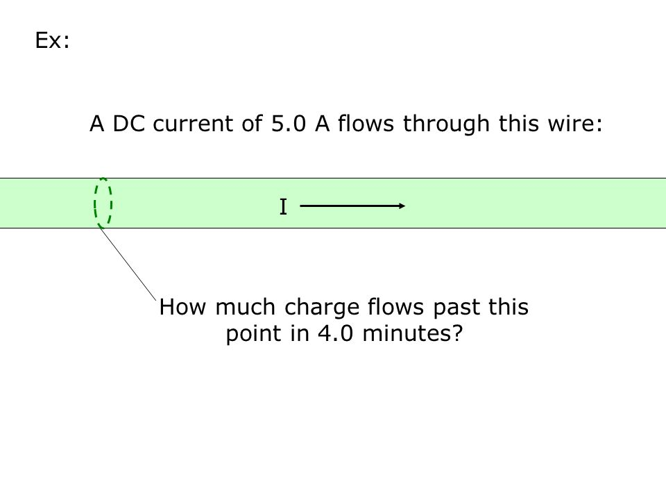 A DC current of 5.0 A flows through this wire: