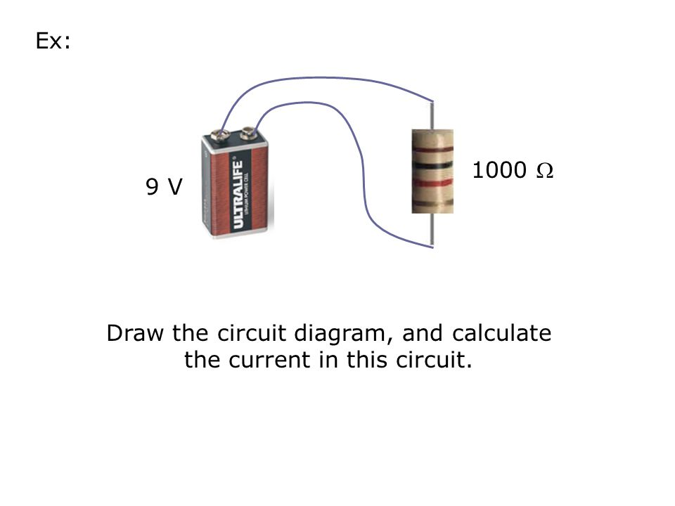 Draw the circuit diagram, and calculate the current in this circuit.