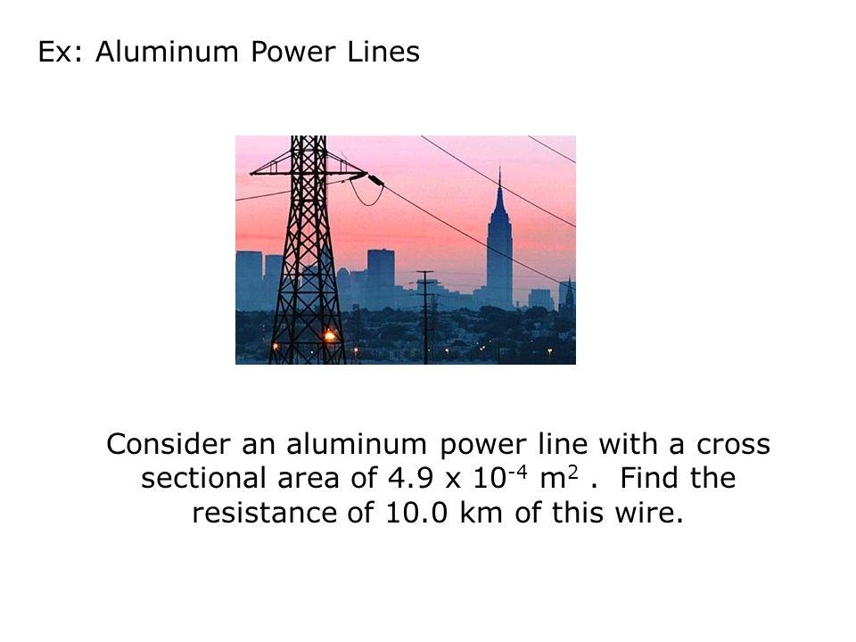 Ex: Aluminum Power Lines