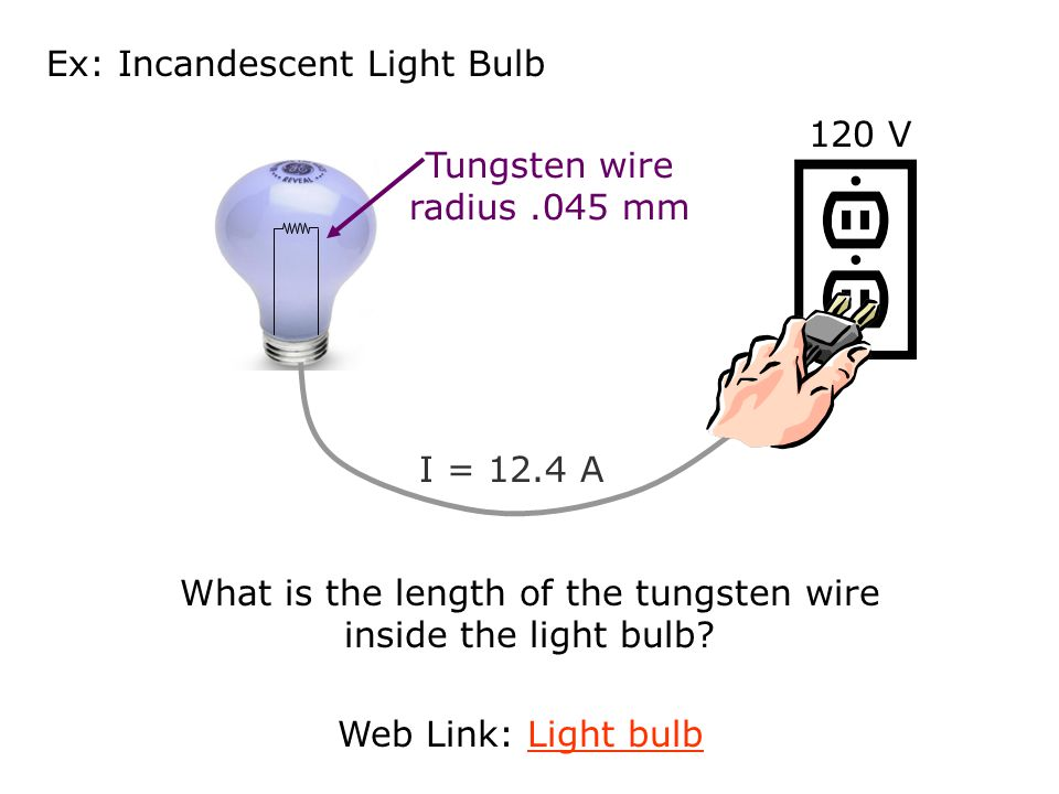 Ex: Incandescent Light Bulb