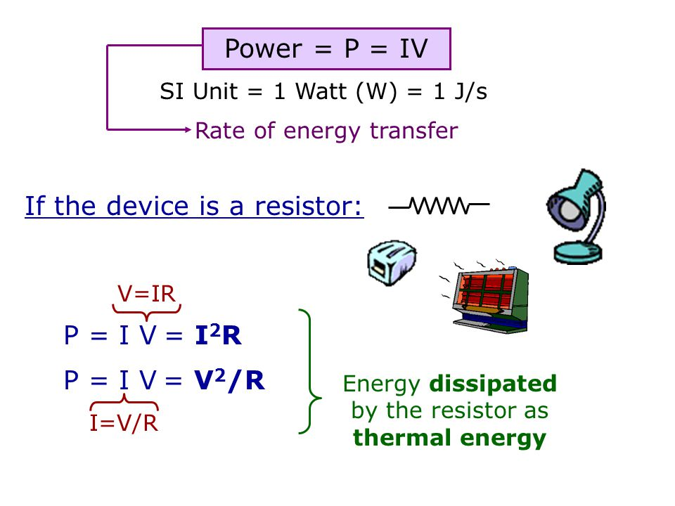 If the device is a resistor: