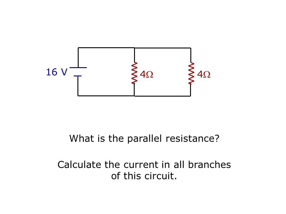 What is the parallel resistance