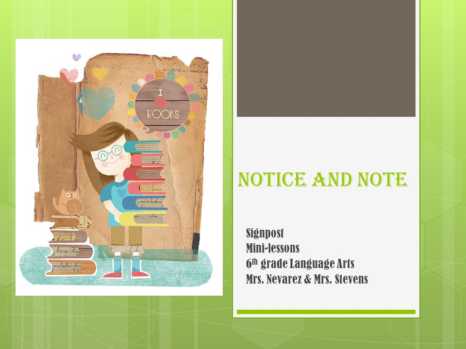 Notice and Note Signpost Mini-lessons 6th grade Language Arts