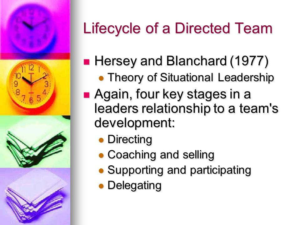 Lifecycle of a Directed Team