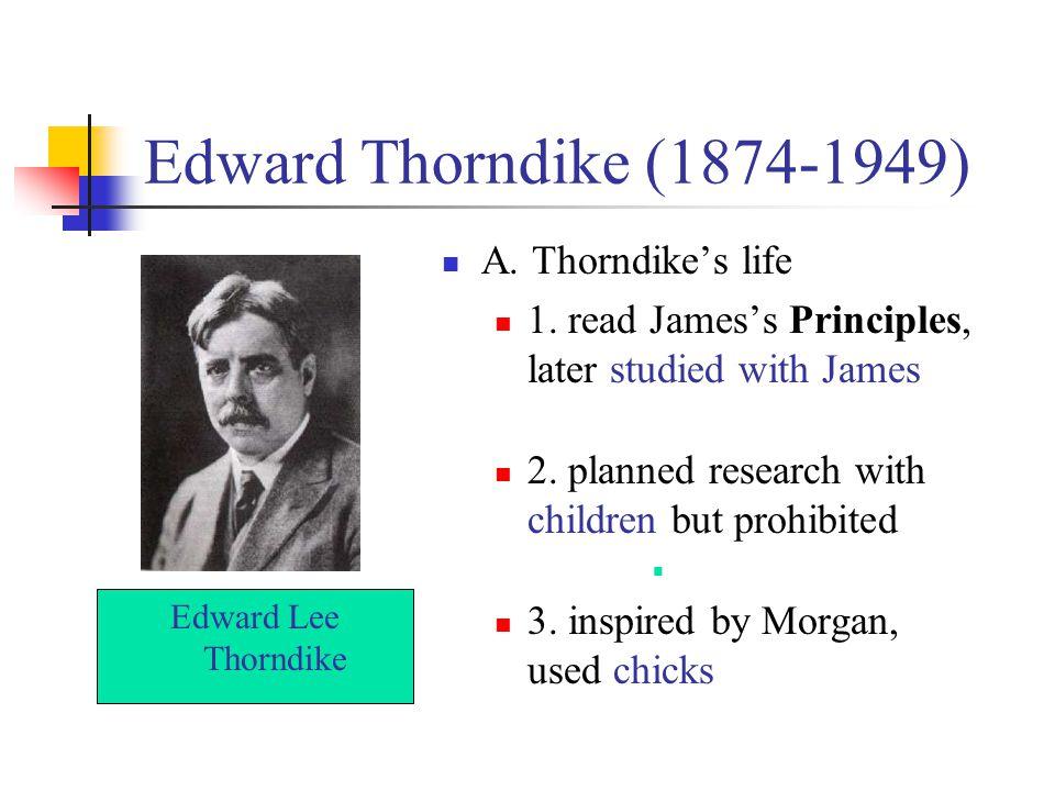 Edward Thorndike (1874-1949) A. Thorndike's life