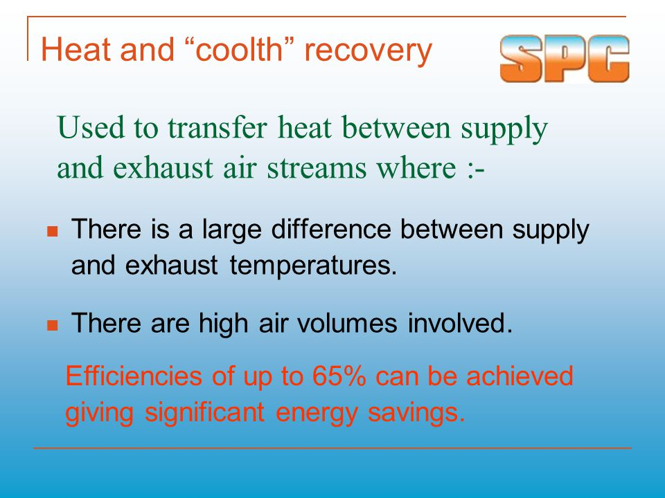 Heat and coolth recovery