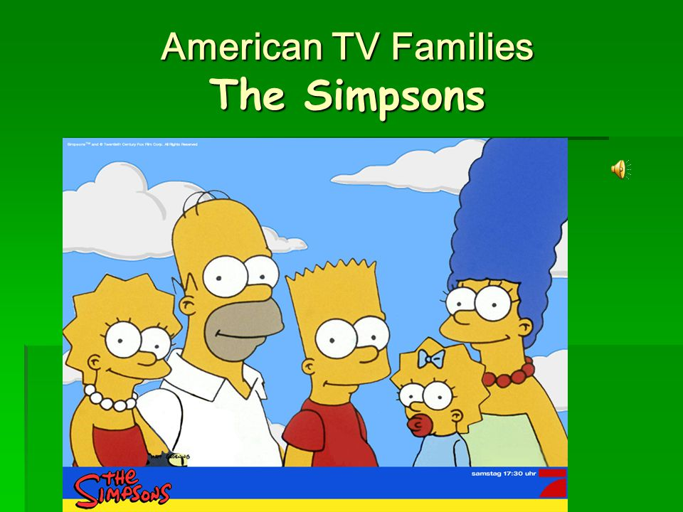 American TV Families The Simpsons