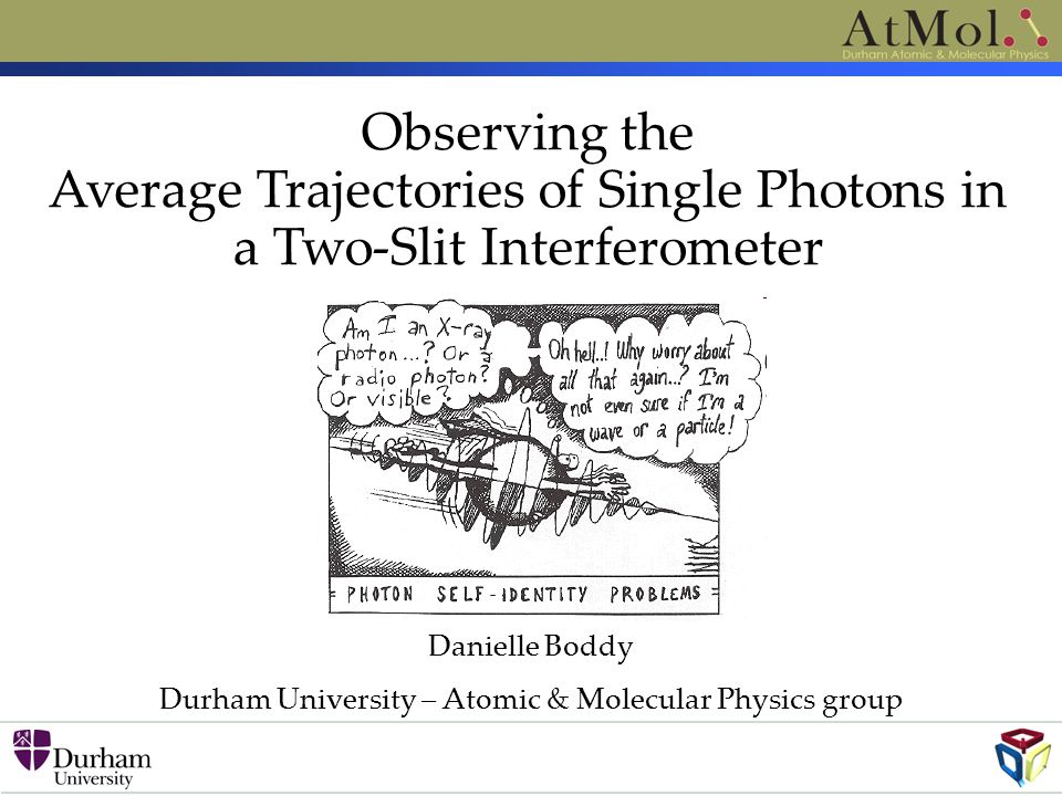 Durham University – Atomic & Molecular Physics group
