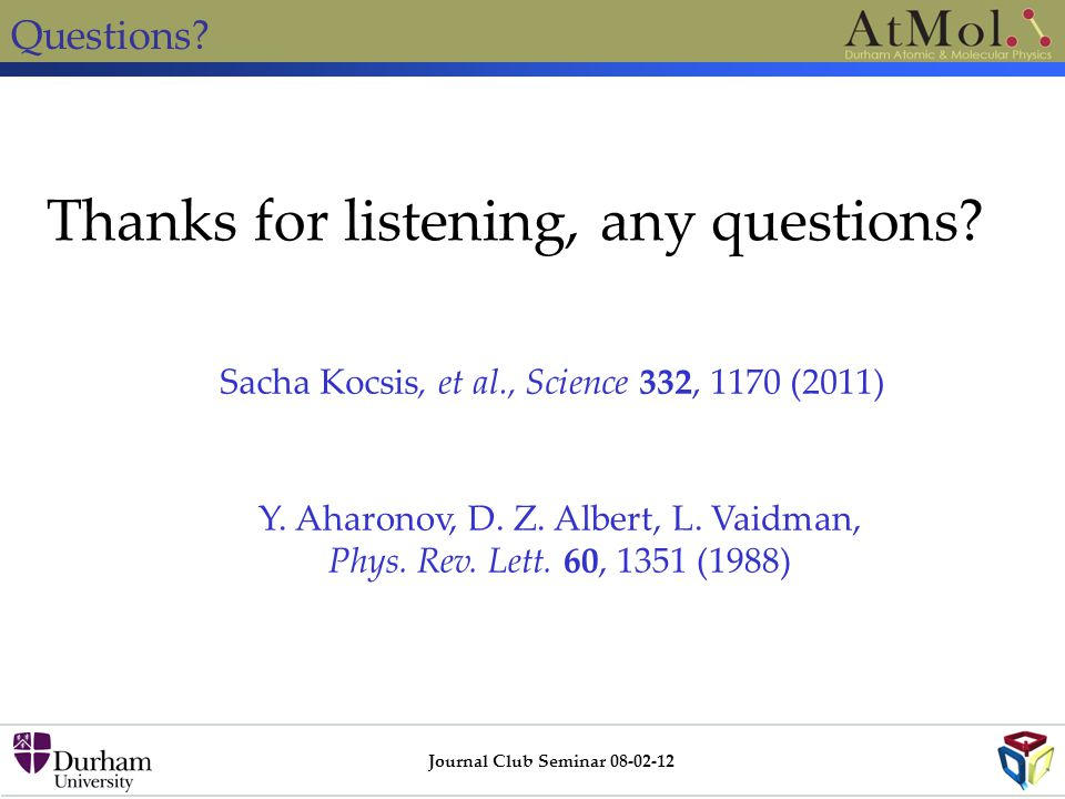 Journal Club Seminar 08-02-12