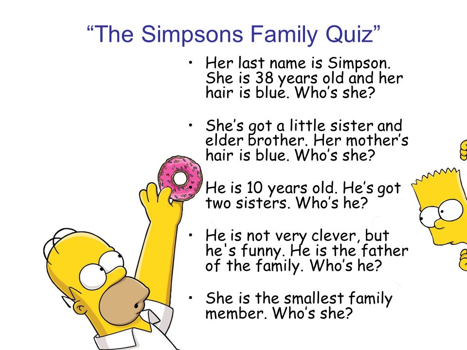 The Simpsons Family Quiz