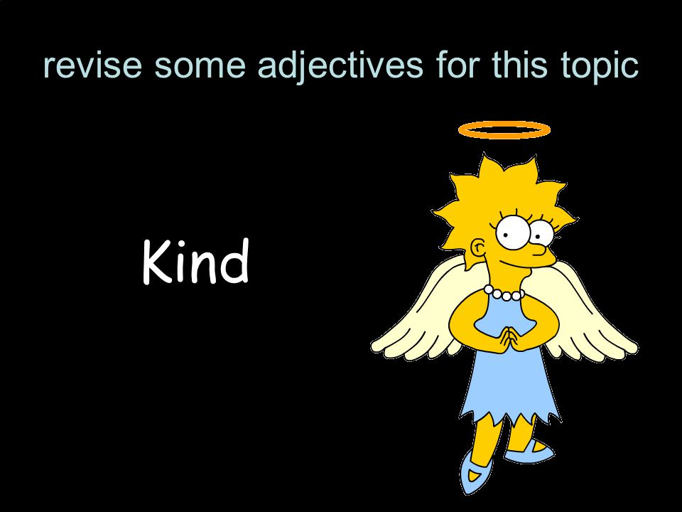 revise some adjectives for this topic