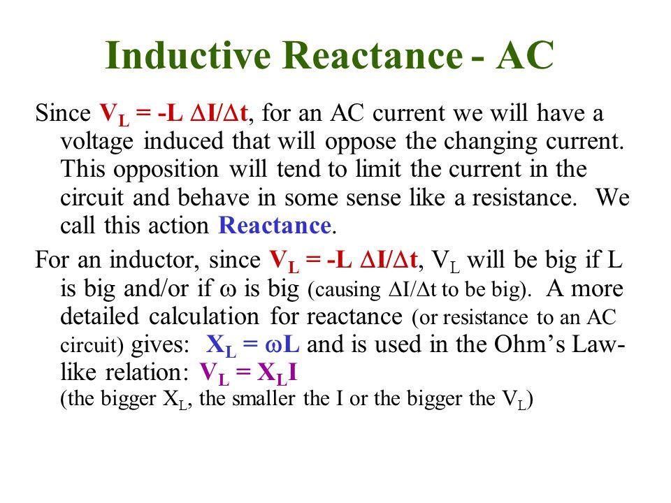 Inductive Reactance - AC