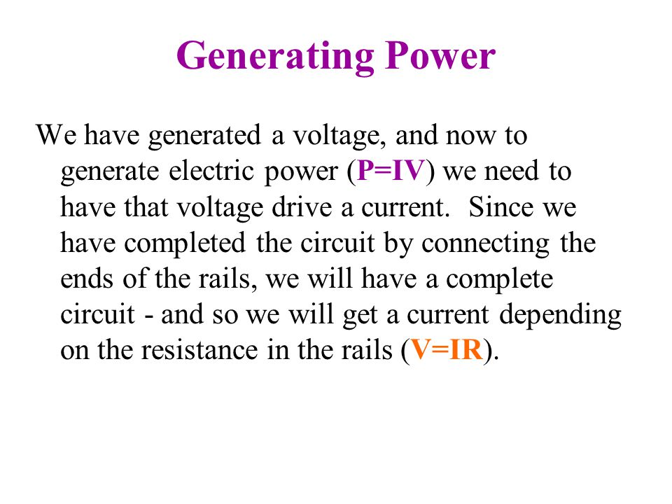 Generating Power