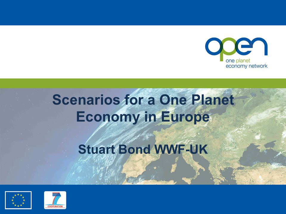 Scenarios for a One Planet Economy in Europe