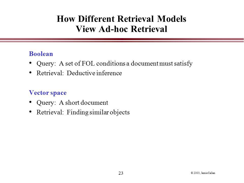 How Different Retrieval Models View Ad-hoc Retrieval