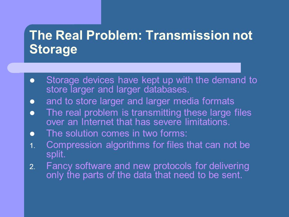 The Real Problem: Transmission not Storage