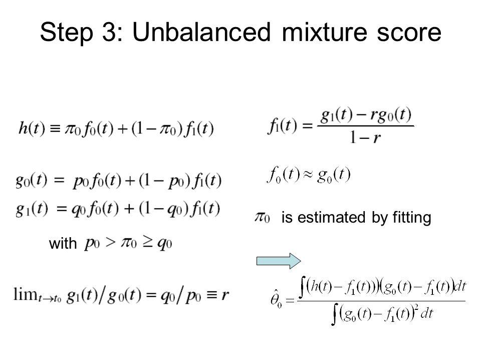 Step 3: Unbalanced mixture score