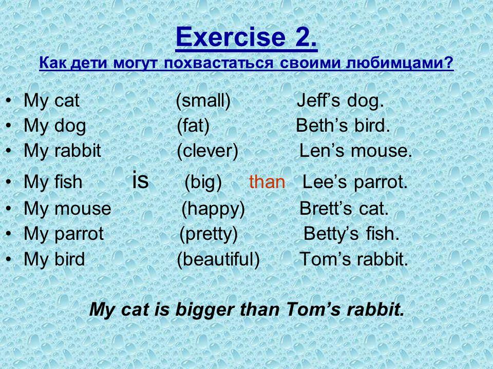 Exercise 2. Как дети могут похвастаться своими любимцами