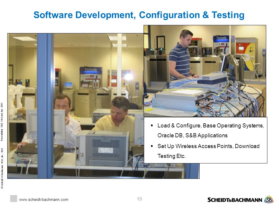 Software Development, Configuration & Testing