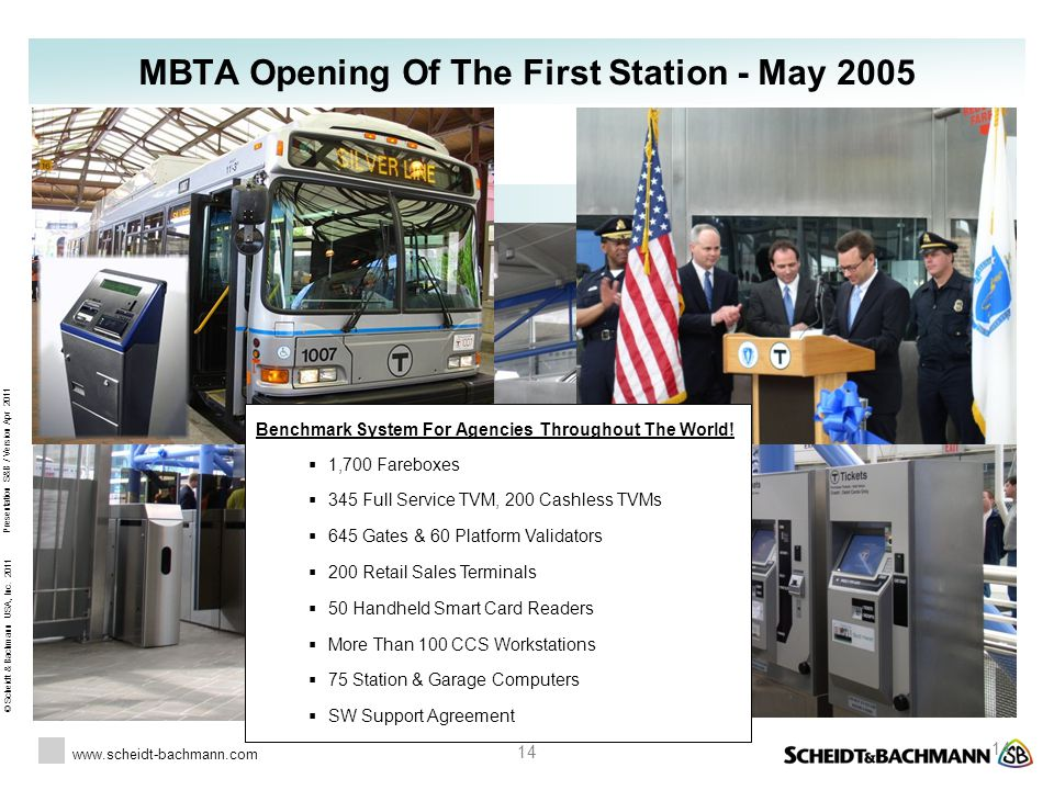 MBTA Opening Of The First Station - May 2005