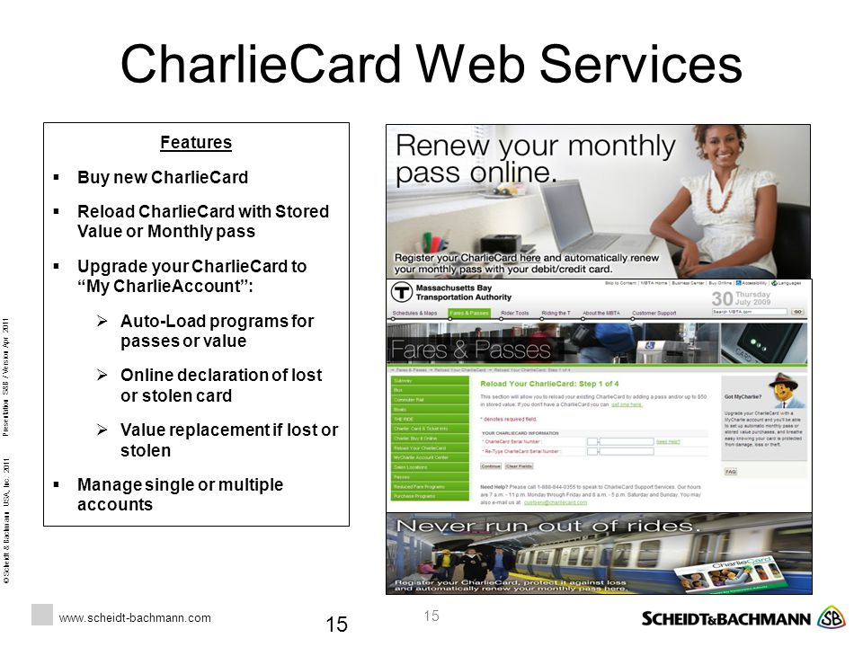 CharlieCard Web Services