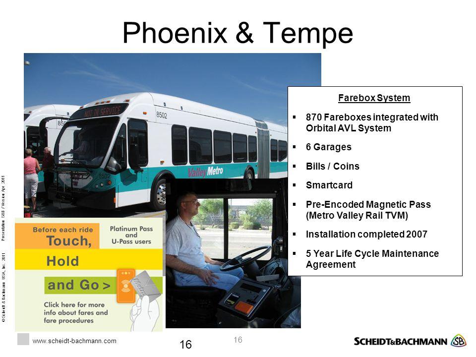 Phoenix & Tempe Farebox System