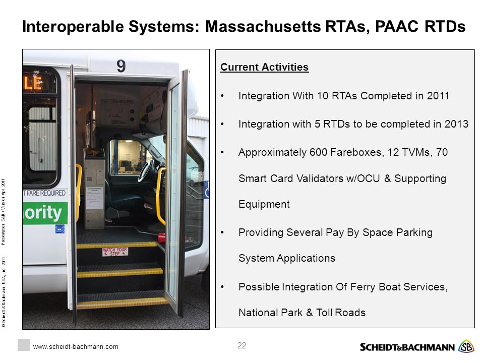 Interoperable Systems: Massachusetts RTAs, PAAC RTDs
