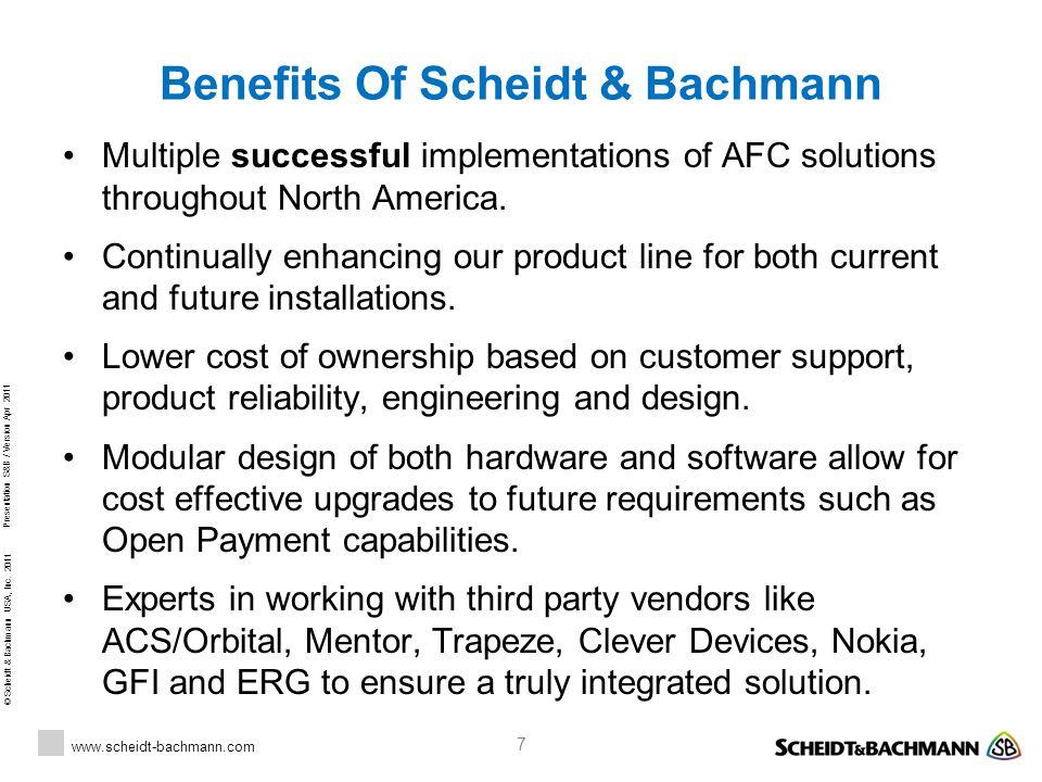 Benefits Of Scheidt & Bachmann