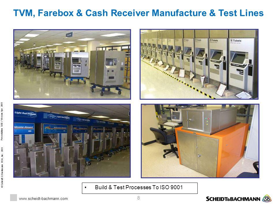 TVM, Farebox & Cash Receiver Manufacture & Test Lines