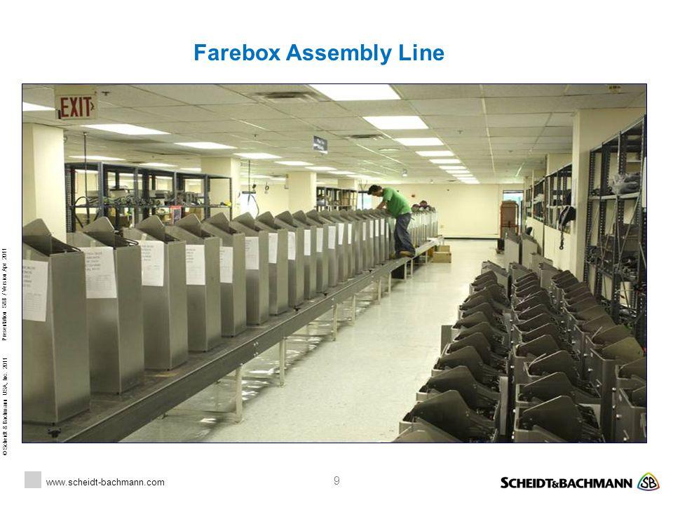 Farebox Assembly Line