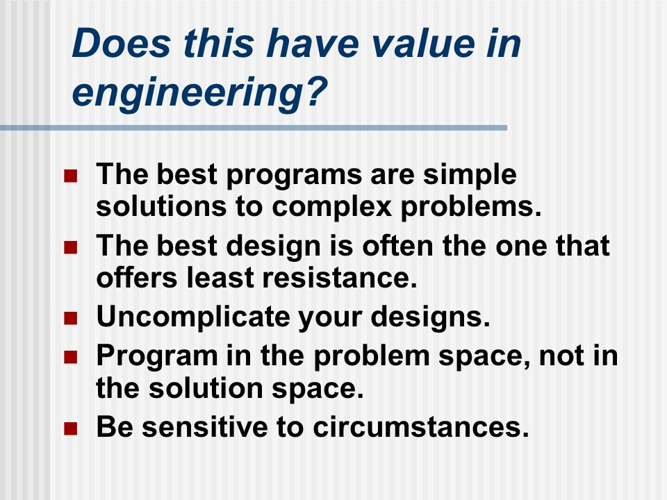 Does this have value in engineering