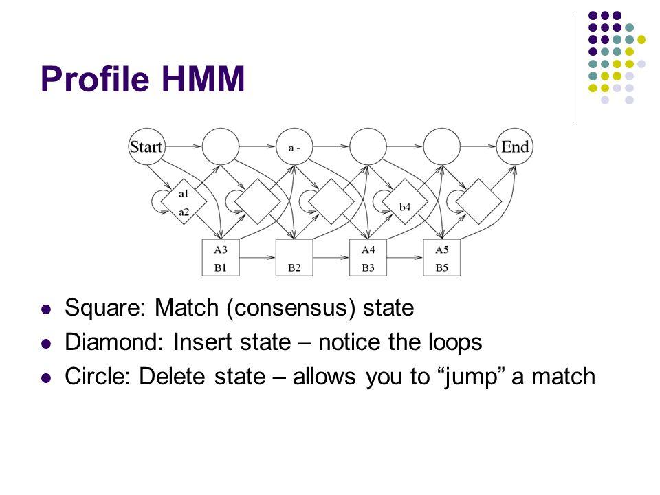 Profile HMM Square: Match (consensus) state