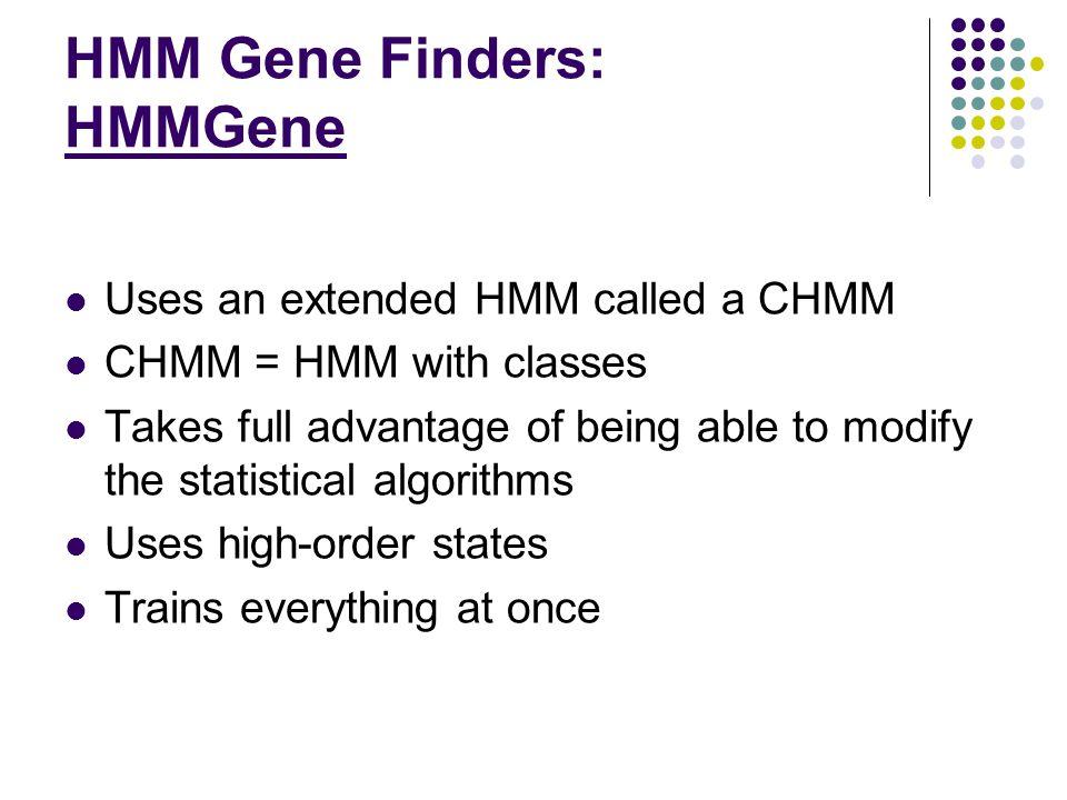 HMM Gene Finders: HMMGene