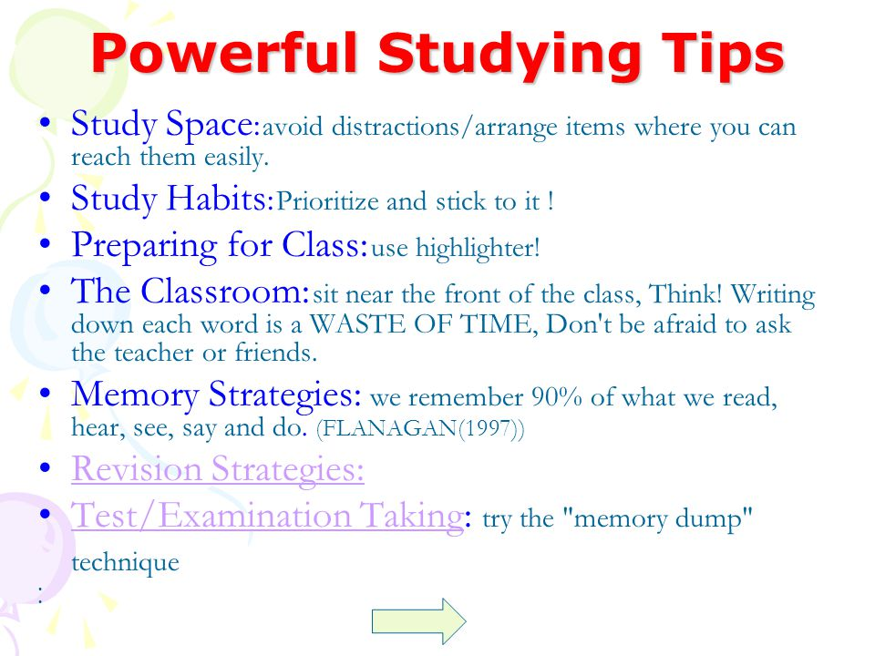 Powerful Studying Tips